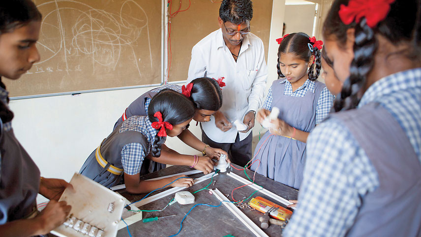 With financial support LAHI has set out to skill children in 20 government schools in Maharashtra